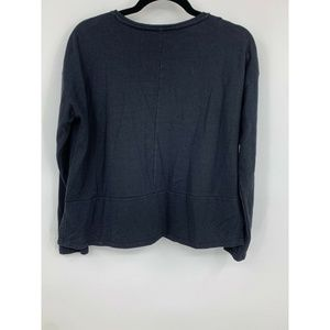 ASOS Tops - ASOS womens sweatshirt 4 black crew neck side slit